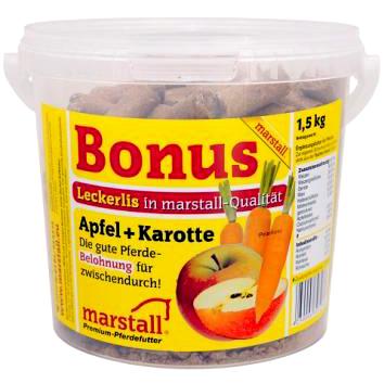 Лакомство для лошадей с яблоком и морковью 1 кг