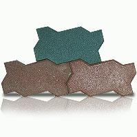 Травмобезопасная резиновая плитка-брусчатка для проходов в конюшнях. Толщина 2 см. Цена указана за 1 м2