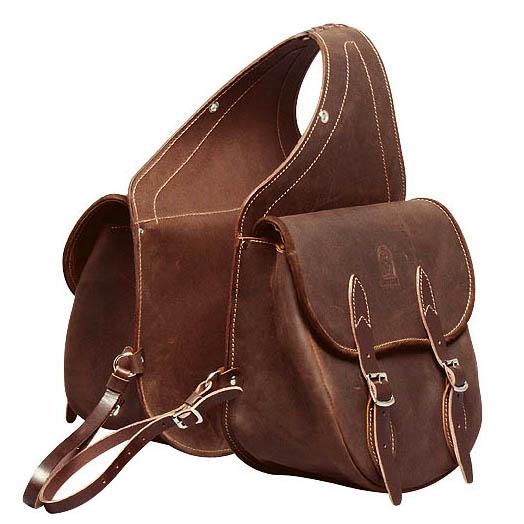 Двойная сумка для седел вестерн из кожи буйвола на ремешках. «Серебряная фурнитура». Украшена красивой белой отстрочкой.
